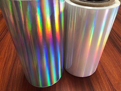 Seamless rainbow PET Holographic lamination film